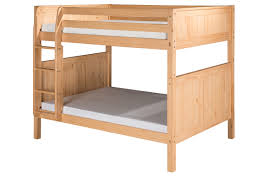 full over full bunk bed panel headboard natural