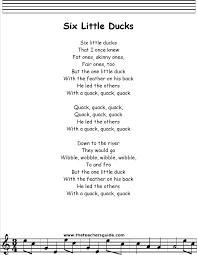 preschool thanksgiving song six little ducks lyrics printout my future classroom pinterest