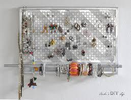 make necklace holder images Diy jewelry organizer it doubles as wall decor anikas diy life diy jpg