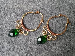 vire earrings copper wire earring how to make wire jewelry 151