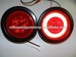 4 inch round led tail lights new design 4 round glolight led stop turn tail light 19 super diode