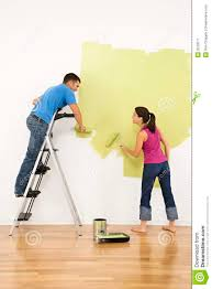 Paint House Couple Painting House Royalty Free Stock Photography Image 3533077