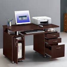 techni mobili double pedestal laminate computer desk chocolate amazon com techni mobili complete workstation computer desk with