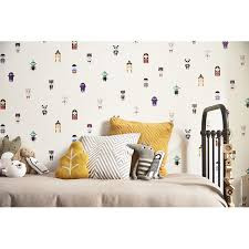 papier peint chambre gar n papier plein d histoires castorama wallpaper for