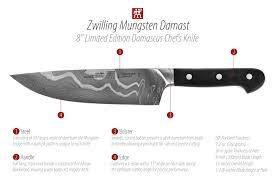kitchen knives henckels zwilling j a henckels mungsten damast limited edition damascus