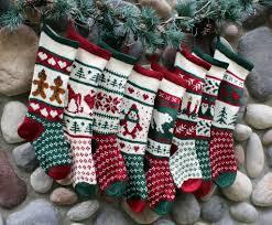 custom order hand knit christmas stockings by sunflowerdesigns1 on