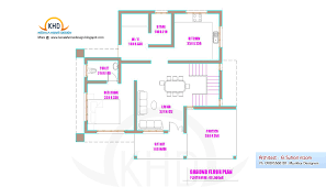 Kerala Home Design Floor Plan And Elevation by Kerala Home Plan And Elevation Sq Ft Design Ideas 3 Bhk Simple Map