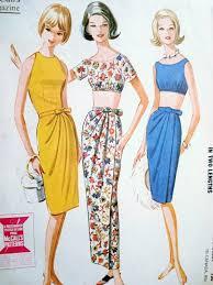 Draped Skirt Tutorial 1960s Classy Sarong Draped Wrap Skirt And Tops Pattern Mccalls