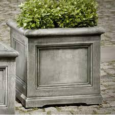 Concrete Planter Boxes by Campania International Inc Orleans Square Planter Box Size Small