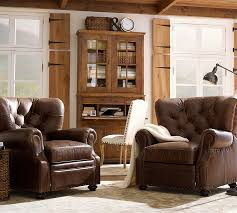 Reclaimed Armchair Lansing Leather Recliner Pottery Barn