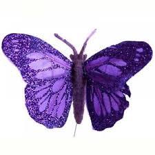 Purple Butterfly Decorations Wire Butterflies Crafts Ebay