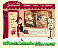 spotlight website design sandy u0027s savvy chic retail boutique web