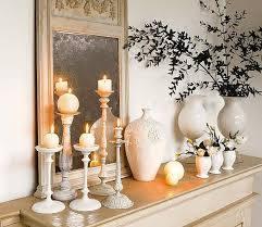 White Home Decor Accessories Mantling The Mantle Piece