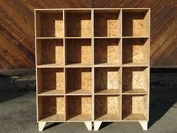custom made osb cubby bookcase storage unfinished by modular osb