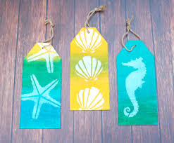 coastal themed wood tag decor