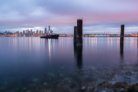 Alki Beach Trail West Seattle by Recent Skyline Shot From Alki Beach At Sunrise Seattle