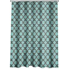 Teal And Brown Shower Curtain Turquoise Ruffle Shower Curtain The Fresh Turquoise Shower Curtain