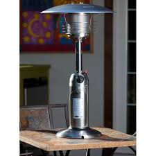 fire sense stainless steel patio heater with adjustable table fire sense table top propane patio heater 2 colors 61322 60262