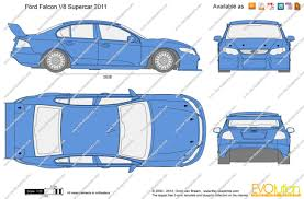 supercar drawing the blueprints com vector drawing ford falcon v8 supercar