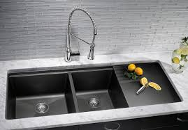 Blanco Black Granite Sink Video And Photos Madlonsbigbearcom - Black granite kitchen sinks