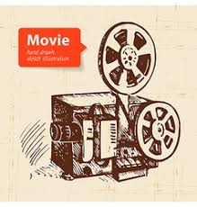 hand drawn vintage movie and film set royalty free vector