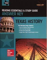 teks texas history reading essentials u0026 study guide answer key