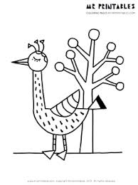 bird coloring pages kids printables