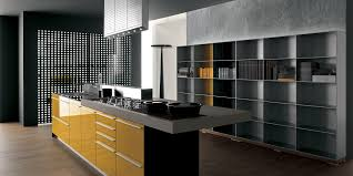 contemporary kitchen laminate island high gloss artematica