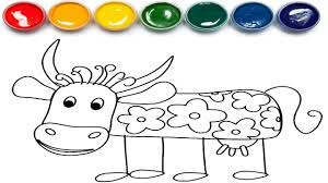 cow coloring pages youtube