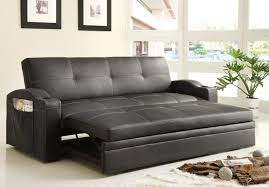 Curved Arm Sofa by Convertible Adjustable Sofa Bed Black Bi Cast Vinyl Upholstery