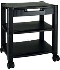 Under Desk Printer Stand With Wheels Safco Scoot Under Desk Stand For Printer Black Amazon Co Uk