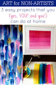 At Home Diys by Remodelaholic Art For Non Artists 3 Diy Art Projects You Can Do