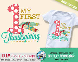 My 1st Thanksgiving My First Thanksgiving Iron On Printable Decal 1st Thanksgiving