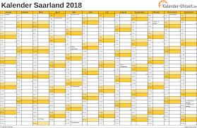 Kalender 2018 Mit Feiertagen Saarland Feiertage 2018 Saarland Kalender