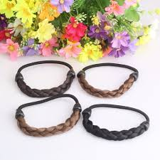 elastic hair band fashion style hair band wig braid rubber band girl hair