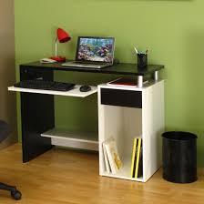 bureau informatique noir bureau informatique contemporain coloris blanc noir titiano bureau