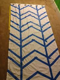 White Curtains With Blue Pattern Wall Decor Complete Pattern Of Chevron Curtains In White And Blue