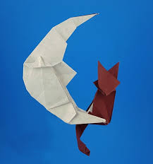 cat on moon kakami hitoshi gilad s origami page