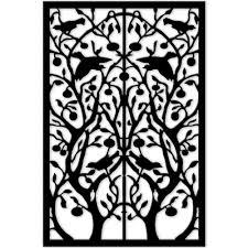 Tree Of Life Home Decor Acurio Latticeworks 1 4 In X 32 In X 4 Ft Black Tree Of Life