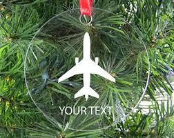 airplane ornament etsy
