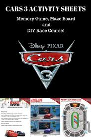 cars 3 activity sheets fit disney mom