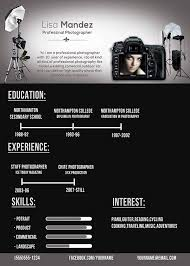 Freelance Photographer Resume Sample by Photographer Resume On Behance