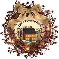 home sweet home interiors pre lit primitive country rustic rattan burlap home
