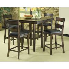 furniture carlyle 5 piece dining set pub style table 4 bar stools