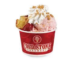 cold stone ice cream sundaes