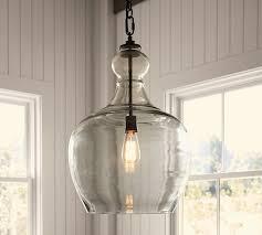 Pottery Barn Light Fixtures Flynn Oversized Recycled Glass Pendant Pottery Barn