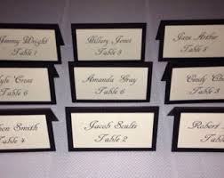 personalized cards wedding ivory place card etsy