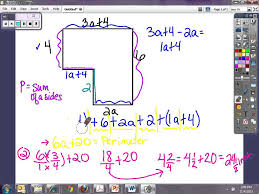 Area Of Compound Shapes Worksheet Perimeter And Area Of Algebraic Figures Youtube