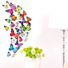 rainbow living room promotion shop for promotional rainbow living ishowtienda new arrival 19pcs decal wall stickers home decorations 3d butterfly rainbow living room kids room