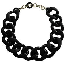 resin chain necklace images Made in italy chain link necklace glossy and satin resin chic24hours jpg